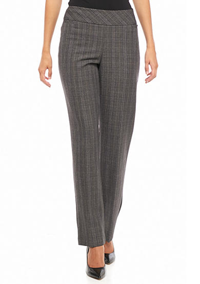 Kim Rogers® Flat Front Pull-On Menswear Pants