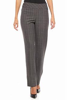 Kim Rogers Flat Front Pull-On Menswear Pants