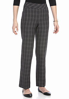 Kim Rogers Flat Front Pull on Fashion Menswear-inspired Pants