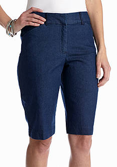 Kim Rogers® Cat's Eye Denim Bermuda Short