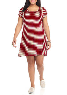 Living Doll Plus Size Stripe Dress