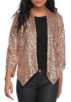 Rules of Etiquette Sequin Open Jacket