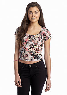 Living Doll Floral Printed Crop Top