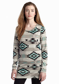 Living Doll Aztec Printed Knit Tunic