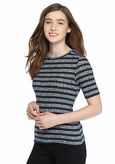 Living Doll Striped Ribbed Tee