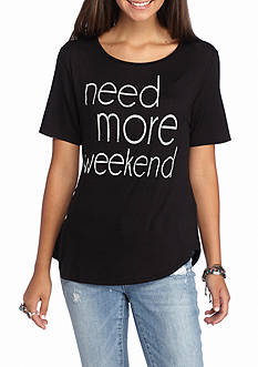 Living Doll Living Doll 'Need More Weekend' Graphic Tee