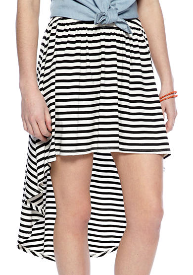 Living Doll Stripe Hi Lo Skirt