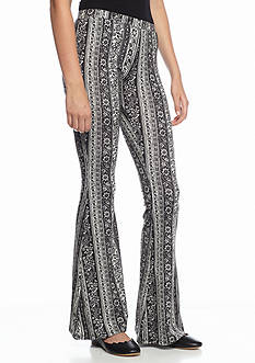 Living Doll Paisley Stripe Flare Pant