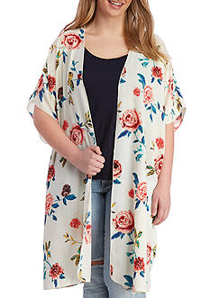 Living Doll Plus Size Soft Woven Printed Duster