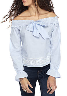 Living Doll Bow Front Blouse