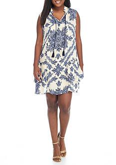Living Doll Sleeveless Dress with Drop Waist