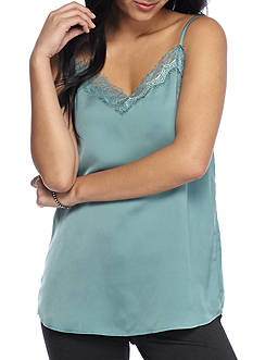 Living Doll Lace Trim Satin Cami