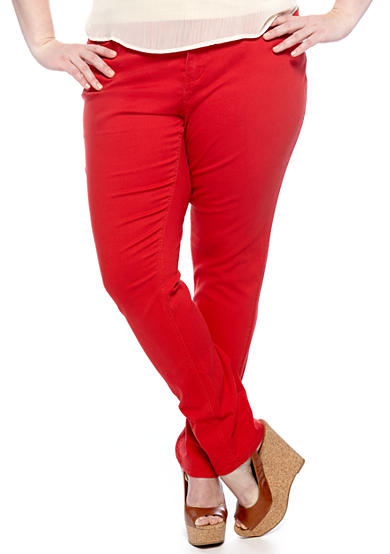 Zana-Di Plus Size Colored Skinny Jean