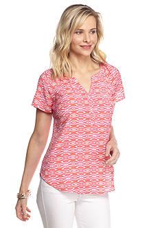 Kim Rogers Petite Printed Woven Top