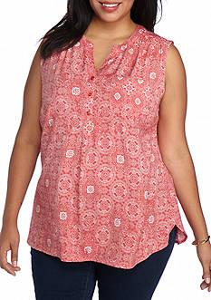 Kim Rogers Plus Size Sleeveless Liano Top