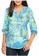 Kim Rogers® Petite Three Quarter Sleeve