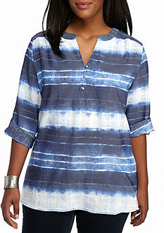 Kim Rogers® Plus Liano Print Top