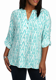 Kim Rogers Plus Liano Print Top