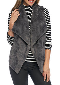 Jack by BB Dakota Cordova Swirly Faux Fur Vest