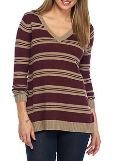 Jack by BB Dakota Rodolphus Split Back Stripe Sweater