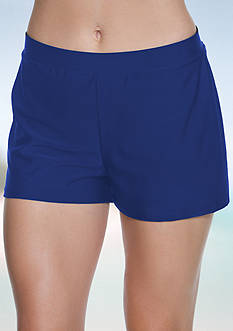 Beach Diva Signature Solid Swim Short