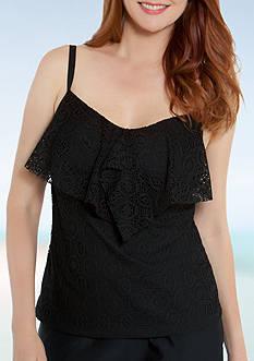 Beach Diva Effervescent Crochet Tankini
