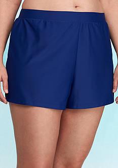 Beach Diva Plus Size Solid Swim Short