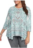 New Directions® Weekend Plus Size Printed