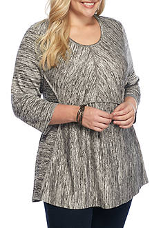 New Directions Weekend Plus Size Babydoll Knit Top