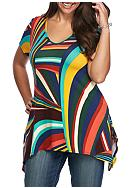 New Directions® Plus Size Short Sleeve Print