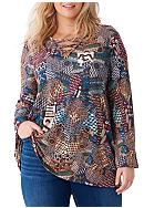 New Directions® Plus Size Bell Sleeve Tunic