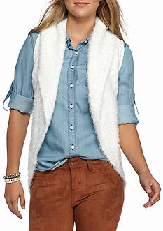 Red Camel Eyelash Sweater Vest