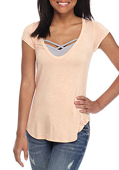 Red Camel 2Fer Bralette and Tee