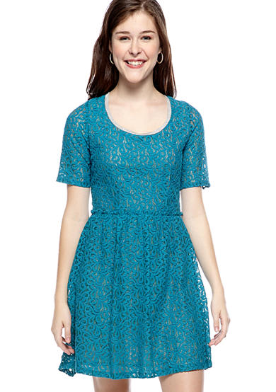 Red Camel® Lace Skater Dress