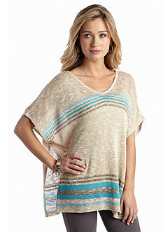 New Directions® Multi Stripe Poncho Top