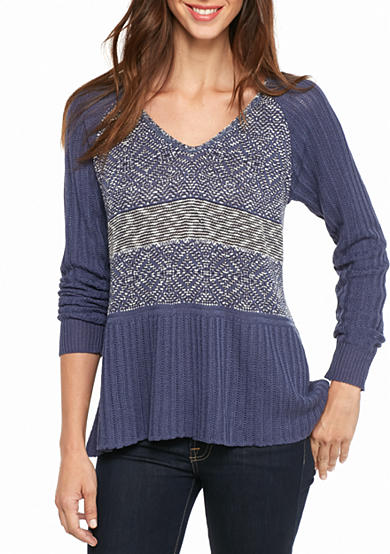 New Directions® Textured Raglan Sweater