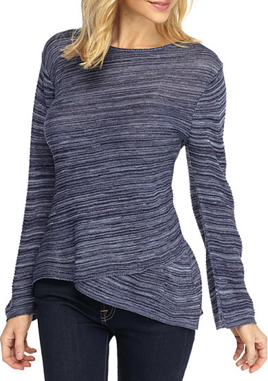 New Directions® Flared Sleeve Crossover Sweater