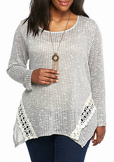New Directions Weekend Plus Size Crochet Tunic