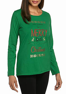 Kim Rogers Merry Christmas Jewel Tee