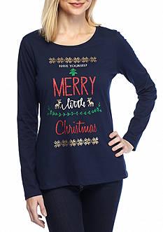 Kim Rogers Merry Christmas Jewel Tee