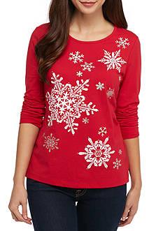 Kim Rogers Petite Snowman T-Shirt
