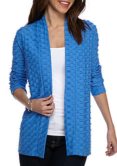 Kim Rogers Long Sleeve Jacquard Knit Cardigan