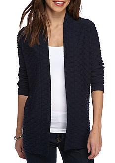 Kim Rogers Long Sleeve Jacquard Knit Cardigan