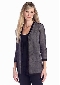 Kim Rogers® Open Front Straight Cardigan