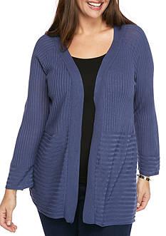 Kim Rogers Plus Size Long Sleeve Raglan Cardigan