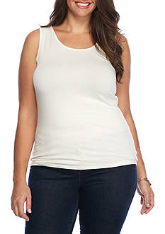 New Directions Plus Size Basic Tank
