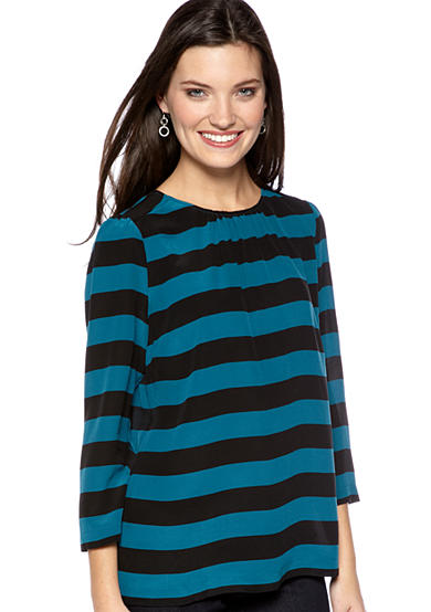 Tegan Stripe Silk Blouse