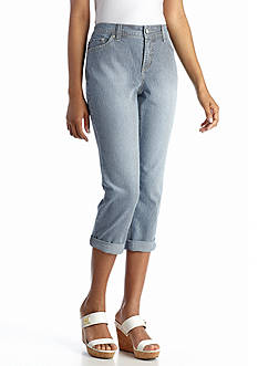 New Directions® Weekend Railroad Stripe Capri