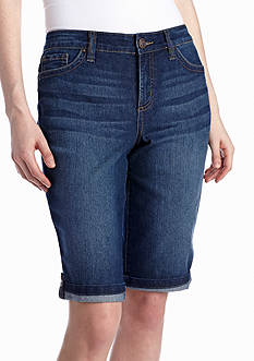 New Directions® Weekend Rolled Up Jean Bermuda Short