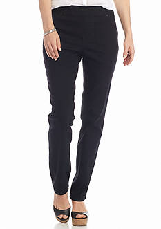 New Directions Weekend Petite Slim Pull-On Denim Pants